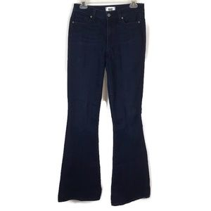 Paige Bell Canyon High Rise Flare Jeans Sz 27 X 35